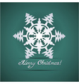 Paper origami christmas snowflake card vector image vector image