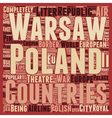 Poland text background wordcloud concept vector image vector image