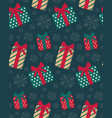 present boxes seamless pattern vector image vector image