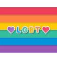 pride flag vector image