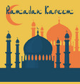 ramadan kareem the mosque is painted in the style vector image vector image