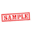 sample stamp on white background stamp sign vector image vector image