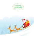 Santa Claus Riding On Sleigh vector image vector image
