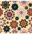Seamless flower retro pattern in Green vector image vector image