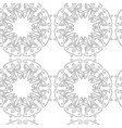seamless vintage decorative pattern with a black vector image vector image