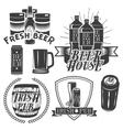 set brewing labels in vintage style pub vector image