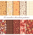Set of ten abstract chocolate seamless patterns