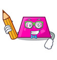 student trapezoid character cartoon style vector image vector image