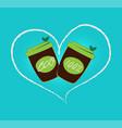 take away fresh bar logo organic food coffee cup vector image vector image