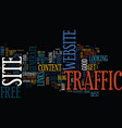 the best website traffic is free website traffic vector image vector image