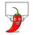 up board cartoon red hot natural chili pepper vector image vector image
