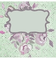 Vintage background flower template EPS 8 vector image vector image