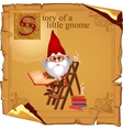 Wise gnome with book and candles vector image