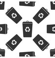 recycle bin icon seamless pattern vector image
