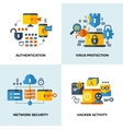 Internet security cloud technology services data vector image