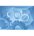 abstract background with gears vector image vector image
