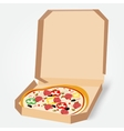 Appetizing pizza in a cardboard box