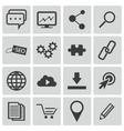 black seo icons set vector image vector image