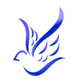 blue bird on white background vector image