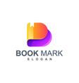 book mark logo design vector image