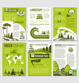 brochure for green nature eco company vector image vector image