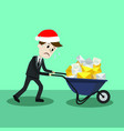 businessman or manager in christmas hat finding vector image vector image