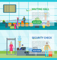 cartoon airport waiting and security control vector image