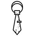 cartoon image of tie icon necktie symbol vector image vector image