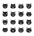 cat face filled icons vector image