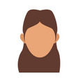 character woman head person image vector image