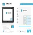 checklist business logo tab app diary pvc vector image vector image