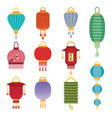 chinese lantern light paper holiday celebrate vector image vector image