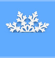 christmas card - winter snowflake vector image vector image