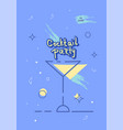 cocktail party template vector image vector image