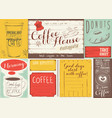 coffee menu placemat vector image vector image