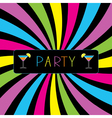 Colorful cocktail party card vector image