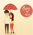 couples rain vector image