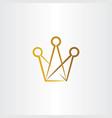 crown logo symbol element icon vector image vector image