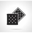 Crunchy crackers black icon vector image vector image