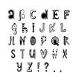 decor alphabet vector image