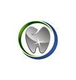 dental care logo design template vector image vector image