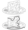 Easy cake maze vector image vector image