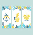 enjoy summer time enjoy vacation vintage vector image vector image