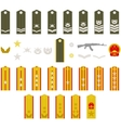 Epaulets Chinese army vector image vector image