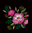 fashion floral embroidery vector image