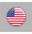 flag of america the right colors and proportions vector image