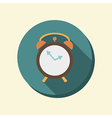 flat circle web icon alarm clock vector image vector image