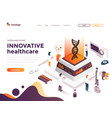 flat color modern isometric concept - innovative vector image
