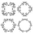floral decorative filigree frames black ornaments vector image