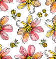 floral seamless texture watercolor vector image vector image